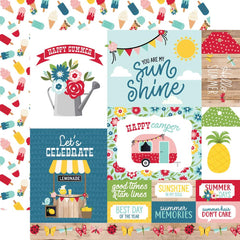"A Slice Of Summer - Echo Park - Double-Sided Cardstock 12""X12"" - Multi Journaling Cards"