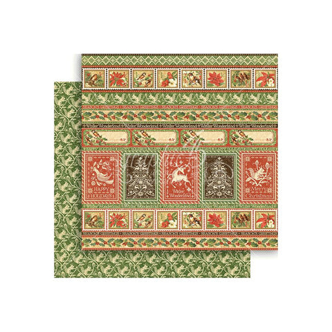 "Winter Wonderland - Graphic 45  Double-Sided Cardstock 12""X12"" - Nordic Greetings"