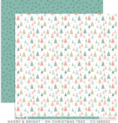 "Merry & Bright - Cocoa Vanilla - 12""X12"" Patterned Paper - Oh Christmas Tree"