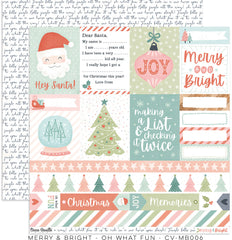 "Merry & Bright - Cocoa Vanilla - 12""X12"" Patterned Paper - Oh What Fun"