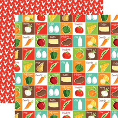 "Farm To Table - Carta Bella - Double-Sided Cardstock 12""X12"" - Pantry Party"