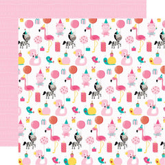 "Wish Big Girl Double-Sided Cardstock 12""X12"" - Party Animal"