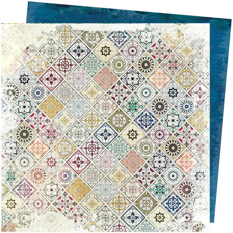 "Spring Botanic - Stamperia Double-Sided Cardstock 12""X12"" - Patchwork (588)"
