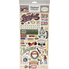 "Baseball - Carta Bella - Chipboard 6""X13"" - Phrases"