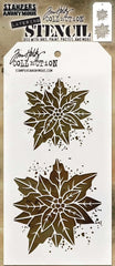"Tim Holtz Layered Stencil 4.125""X8.5"" - Poinsettia Duo"