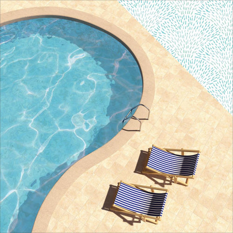 "Summer Splash Double-Sided Cardstock 12""X12"" - Poolside"