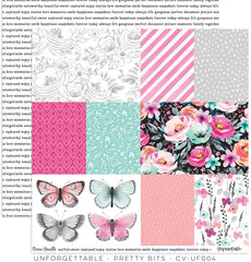 "Unforgettable - Cocoa Vanilla - 12""x12"" Patterned Paper - Pretty Bits"