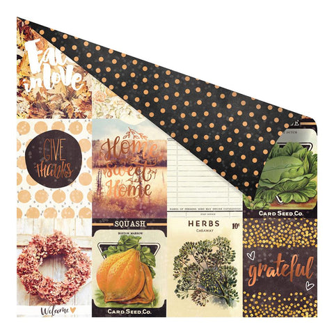 "Amber Moon Foiled Double-Sided Cardstock 12""X12"" - Pumpkin Love"