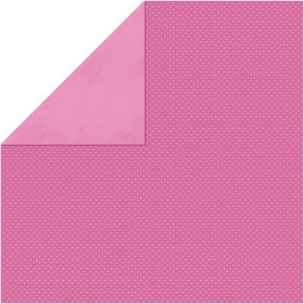 "BoBunny Double Dot Double-Sided Textured Cardstock 12""X12"" - Punch Pink"