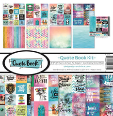 "Quote Book  - Reminisce - Collection Kit 12""X12"""