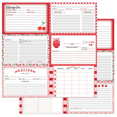 "PhotoPlay - Double-Sided Cardstock 12""X12"" - Recipe Cards - Happy Fruit - Red"
