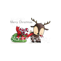 Stamping Bella Cling Stamps - Reindeer With A Gift Stuffie