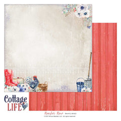 "Cottage Life - 49 & Market - 12""X12"" Patterned Paper - Rooster Row"