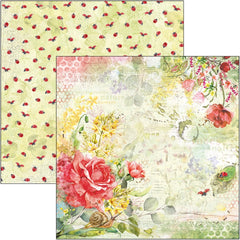"Microcosmos - Ciao Bella - Double-Sided Cardstock 90lb 12""X12"" - Roses"