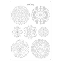"Passion - Stamperia - Soft Maxi Mould 8.5""X11.5"" - Round Lace"