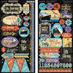 "Life's A Journey - Graphic 45 - Cardstock Stickers 12""X12"""