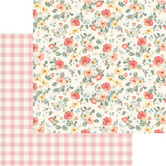 "Gingham Gardens - My Mind's Eye - Double-Sided Cardstock 12""X12"" - Savannah"