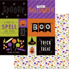 "Trick Or Treat Double-Sided Cardstock 12""X12"" - Scared Silly"