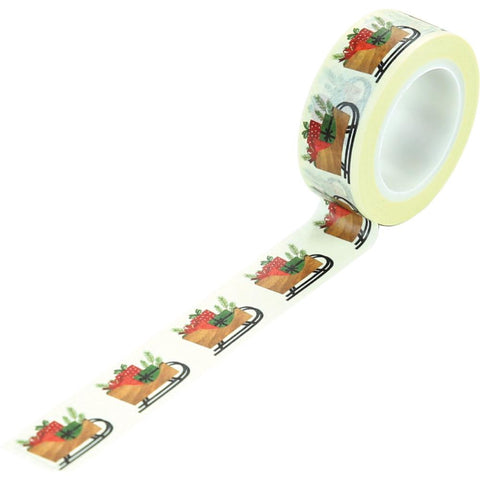 A Cozy Christmas - Echo Park - Decorative Tape 30' - Sleigh & Presents