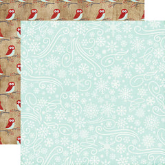 "A Perfect Winter Double-Sided Cardstock 12""X12"" - Snowflake Swirls"
