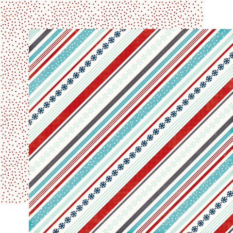 "A Perfect Winter Double-Sided Cardstock 12""X12"" - Snowy Stripes"