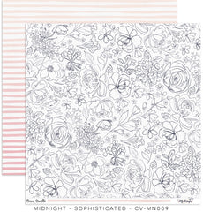 "Midnight - Cocoa Vanilla - 12""x12"" Patterned Paper - Sophisticated"