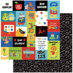 "Recess - Photo Play - Double-Sided Cardstock 12""X12"" - Star Student"
