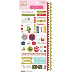 "Merry Christmas Cardstock Stickers 6""X12.5"" - Sticky Mix"