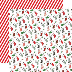 "Dear Santa - Carta Bella - Double-Sided Cardstock 12""X12"" - Stockings"