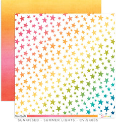 "Sunkissed - Cocoa Vanilla - 12""X12"" Patterned Paper - Summer Lights"
