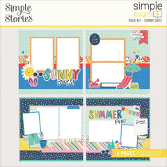 Sunkissed - Simple Stories - Simple Pages Page Kit - Sunny Days