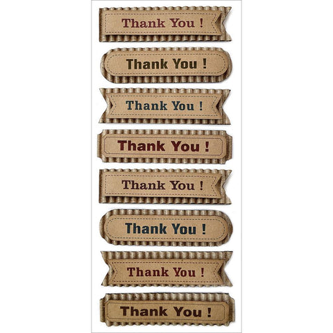 MultiCraft Sentiment Kraft Tags -Thank You