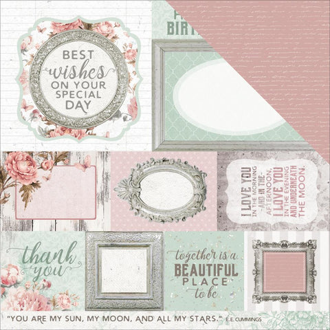 "Sage & Grace Double-Sided Cardstock 12""X12"" - Thoughts"