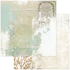 "Vintage Artistry Shore - 49 & Market - Double-Sided Cardstock 12""X12"" - Tidepool"