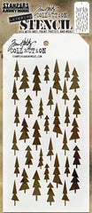 "Tim Holtz Layered Stencil 4.125""X8.5"" - Tree Lot"