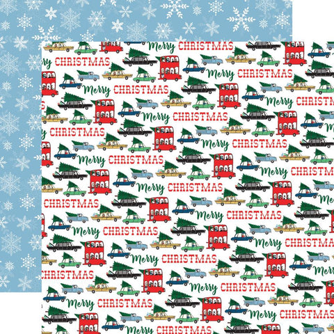 "Merry Christmas - Carta Bella - Double-Sided Cardstock 12""X12"" -  Tree Shopping"