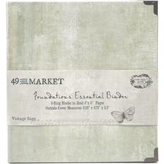 49 & Market - Foundations - Essential Binder - Vintage Sage