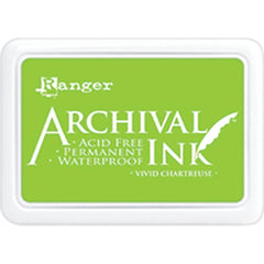 Ranger Archival Ink Pad #0 - Vivid Chartreuse