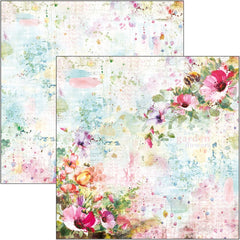 "Microcosmos - Ciao Bella - Double-Sided Cardstock 90lb 12""X12"" - Wildflowers"