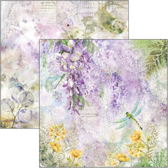 "Microcosmos - Ciao Bella - Double-Sided Cardstock 90lb 12""X12"" - Wisteria"