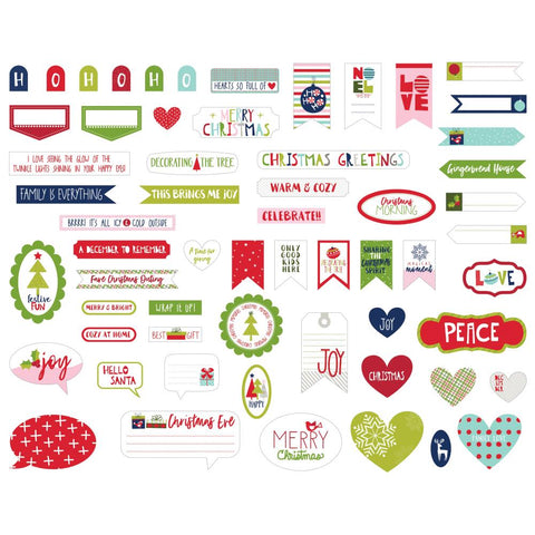 Bella Blvd Merry Christmas Cardstock Die-Cuts - Words