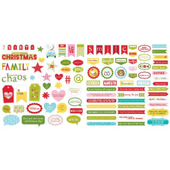 Santa Squad - Bella Blvd - Cardstock Ephemera - Words