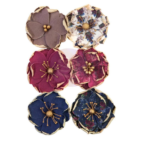 Darcelle - Prima Marketing - Mulberry Paper Flowers - Worn Elements