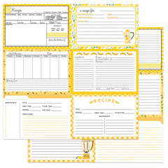 "PhotoPlay - Double-Sided Cardstock 12""X12"" - Recipe Cards - Happy Fruit - Yellow"
