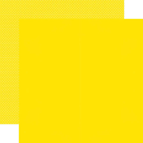 "Simple Stories Color Vibe Double-Sided Cardstock 12""X12"" - Yellow"