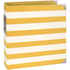 "Sn@p! Designer Binder 6""X8"" - Yellow Stripe"