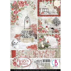 Frozen Rose - Ciao Bella - Double-Sided Creative Pack 90lb A4 9/Pkg