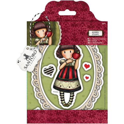 Gorjuss Santoro Rubber Stamp - Dear Apple