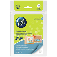 "Glue Dots - Clear Thin Dot Sheets - Ultra Thin .375"" 252/Pkg"
