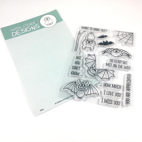 Bats 4x6 Clear Stamp Set